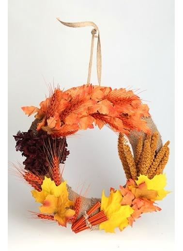 Kibrithane Çiçek Kapı Süsü Kuru Çiçek Aranjman Kc00200826 Renkli